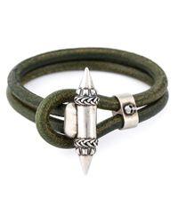 Alexander McQueen | Green Spike Charm Bracelet | Lyst