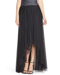 Monique Lhuillier Bridesmaids - Black High/low Tulle Overskirt - Lyst