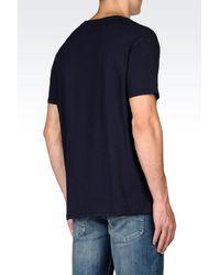 Armani Jeans | Blue Print T-shirt for Men | Lyst