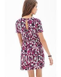 Forever 21 - Pink Tropical Floral Skater Dress - Lyst