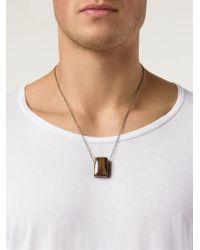 Joseph Brooks - Brown Flourite Pendant Necklace for Men - Lyst
