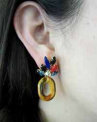 Lizzie Fortunato | Multicolor Parakeet Earrings | Lyst