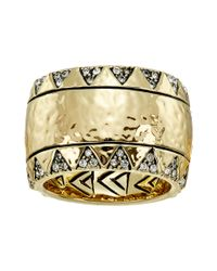 House of Harlow 1960 - Metallic Safari Band Ring - Lyst