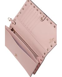 Valentino | Pink The Rockstud Leather Wallet | Lyst