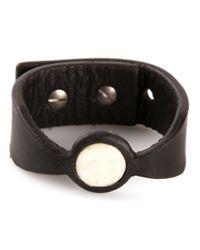 Rick Owens Black Buffalo Bone Cuff for men
