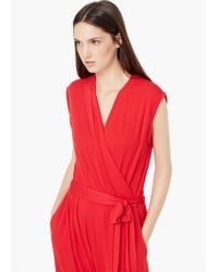 Mango | Red Bow Long Jumpsuit | Lyst