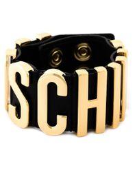 Moschino Black Logo Letter Cuff