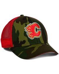 Reebok | Green Calgary Flames Camo Trucker Cap for Men | Lyst