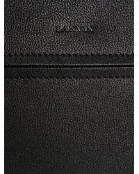 Lanvin - Black Grained Leather Document Holder for Men - Lyst