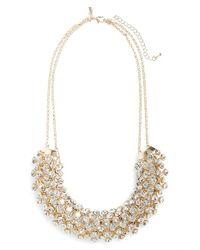 TOPSHOP | Metallic Rhinestone Statement Necklace | Lyst