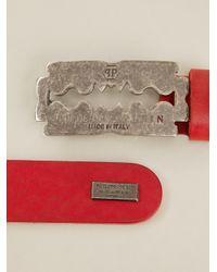 Philipp Plein Red Razor Detail Bracelet for men