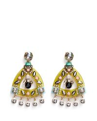 J.Crew - Multicolor Lucite-and-crystal Earrings - Lyst