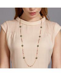 Miguel Ases Metallic Labradorite and Quartz Necklace