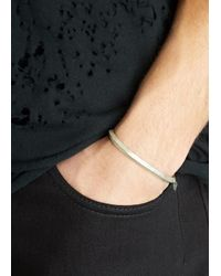 All_blues | Metallic Pyramid Brushed Sterling Silver Bangle for Men | Lyst