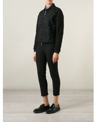 Moncler - Black Floral Macramé Jacket - Lyst