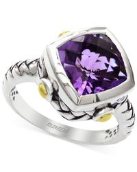 Effy Collection | Metallic Amethyst Ring In Sterling Silver And 18k Yellow Gold (3-1/2 Ct. T.w.) | Lyst