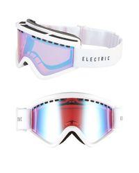 Electric - 'egv' 200mm Snow Goggles - Gloss White/ Rose/ Blue Chrome - Lyst