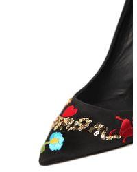 Dolce & Gabbana | Black Bellucci Je T'aime Mamma Embellished Grosgrain Pumps | Lyst