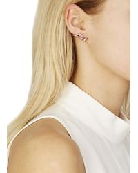 Maria Black - Pink Wing Rose Gold Plated Earrings - Lyst