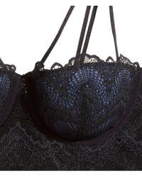 H&M Black Lace Bustier