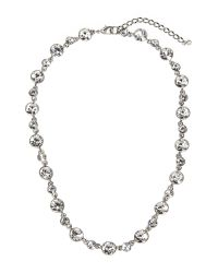 Givenchy - Metallic Silver-Tone Round Accented Linked Necklace - Lyst