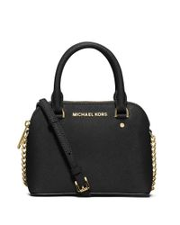 MICHAEL Michael Kors | Black Sloan Small Pythonembossed Shoulder Bag | Lyst