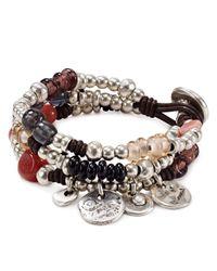 Uno De 50 Metallic Spring Multi Color Bracelet