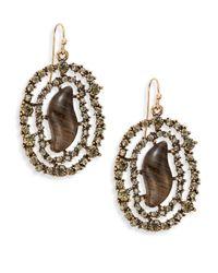 Saks Fifth Avenue | Metallic Webbed Sparkle Earrings | Lyst