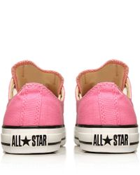 Converse Pink Chuck Taylor All Star Low Trainers Lyst