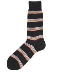 Paul Smith Black Block Stripe Socks for men