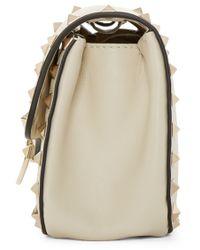 Valentino - White Ivory Rockstud Clasp Shoulder Bag - Lyst