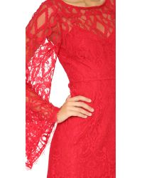 Free People - Red Guinevere Lace Dress - Lyst