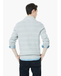 Mango | Gray Shawl Collar Textured Sweater for Men | Lyst