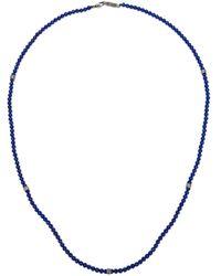 Roman Paul | Blue Lapis Lazuli Bead Necklace for Men | Lyst