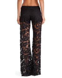 Alexis - Black Andora Wide Leg Lace Pant - Lyst