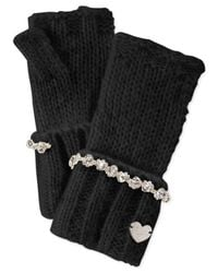 Betsey Johnson | Black On The Rocks Fingerless Gloves | Lyst