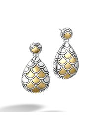 John Hardy - Metallic Naga Drop Earring - Lyst
