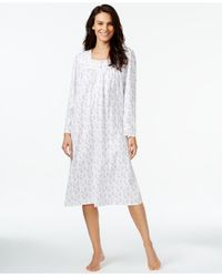 Eileen West | White Printed Long-sleeve Nightgown | Lyst