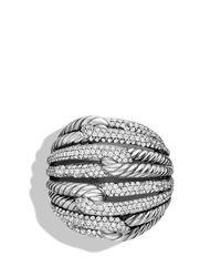 David Yurman   Metallic Labyrinth Dome Ring With Diamonds   Lyst