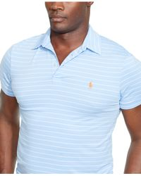 Polo Ralph Lauren | Blue Big & Tall Striped Performance Polo Shirt for Men | Lyst