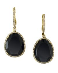 Effy | Black Onyx, Diamond Earrings And 14K Yellow Gold Drop Earrings | Lyst