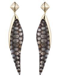 Alexis Bittar | Metallic 'lucite - Crocodile' Drop Earrings | Lyst