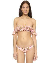 Tori Praver Swimwear | Pink Tulum Bikini Top | Lyst