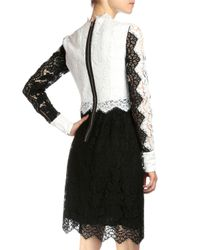 Erdem - Black Luisa Colorblock Lace Dress - Lyst