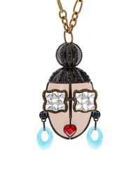 Lanvin | Metallic Zandra-Face Necklace | Lyst