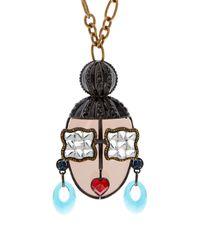 Lanvin - Metallic Zandra-Face Necklace - Lyst