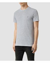 AllSaints - Gray Baltis Tonic Crew T-shirt for Men - Lyst