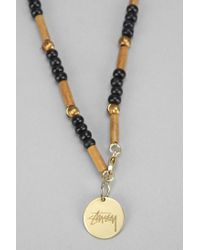 Stussy - Black Bamboo Necklace for Men - Lyst