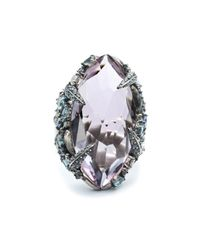Alexis Bittar - Metallic Cabuchon Sapphire Pave Cluster Topaz And Diamond Ring - Lyst