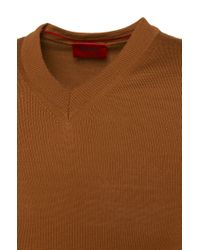 HUGO - Brown Sweater In New Wool: 'sacaralio' for Men - Lyst